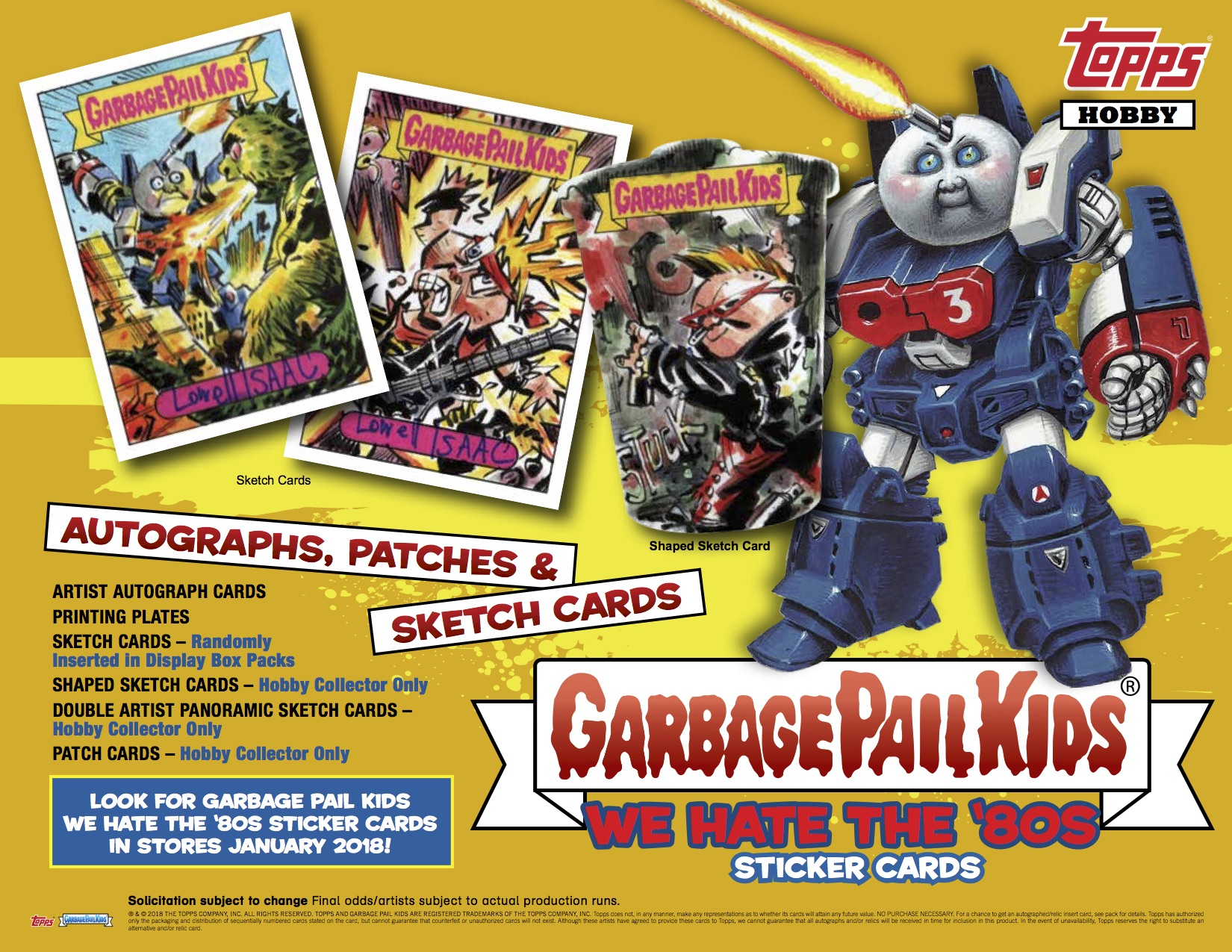 04ae5e37d0a There is also a gallery of examples of the cards for the new set. 2018S1 GPK  We Hate the 80 s is set to hit stores in Jan. 17